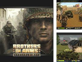 In addition to the sis game Ninja strike for Symbian phones, you can also download Brothers in arms 3D: Earned in blood for free.
