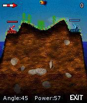 Cannons - Symbian game screenshots. Gameplay Cannons.
