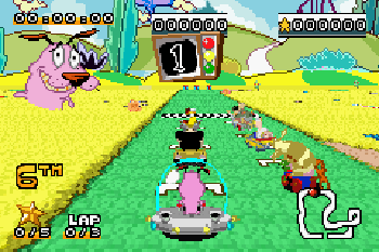 Cartoon network: Schnellstrasse - Symbian-Spiel Screenshots. Spielszene Cartoon network: Speedway.
