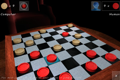Скріншот Symbian гри Checkers Lounge 3D sis на телефон. Ігровий процес.