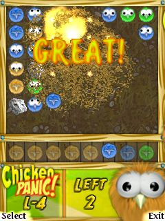 Chicken Panic - Symbian game screenshots. Gameplay Chicken Panic.