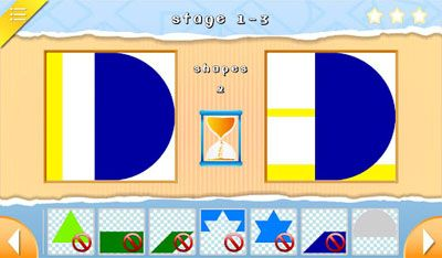 Bunte Figuren - Symbian-Spiel Screenshots. Spielszene Colorful Shapes.