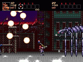 Contra: Hard corps - Symbian game screenshots. Gameplay Contra: Hard corps.