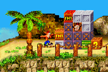 Crash Bandicoot 2: N-Tranced - Symbian-Spiel Screenshots. Spielszene Crash Bandicoot 2: N-Tranced.