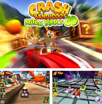 In addition to the sis game Egg mania for Symbian phones, you can also download Crash bandicoot kart for free.