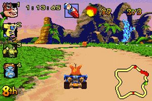 Crash: Go-kart - Symbian-Spiel Screenshots. Spielszene Crash Nitro Kart.