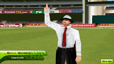 Cricket - Symbian-Spiel Screenshots. Spielszene Cricket T20 Fever.