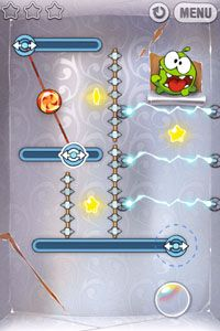 Corte a Corda  - Screenshots do jogo para Symbian. Jogabilidade do Cut the Rope.