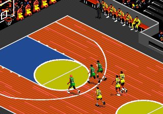 Basketball mit David Robinson - Symbian-Spiel Screenshots. Spielszene David Robinson basketball.