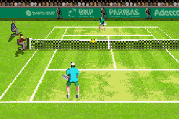 Davis cup tennis - Symbian game screenshots. Gameplay Davis cup tennis.