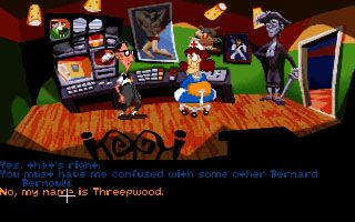 Tag des Tentakles - Symbian-Spiel Screenshots. Spielszene Day of the Tentacle.