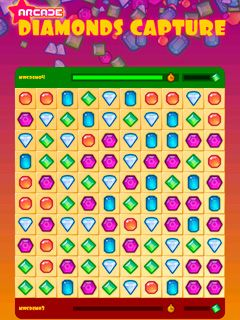 Diamanten Fangen - Symbian-Spiel Screenshots. Spielszene Diamonds Capture.