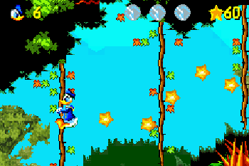 Les aventures de Donald Duck - Écrans du jeu Symbian. Gameplay Donald Duck Advance.