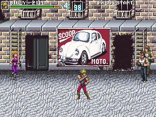 Doppel-Drache: Entfesselt - Symbian-Spiel Screenshots. Spielszene Double Dragon: Unleashed.