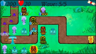 Elemental War - Symbian game screenshots. Gameplay Elemental War.