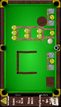 Fantasie-Billiard - Symbian-Spiel Screenshots. Spielszene FantasyPool.