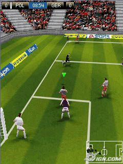 FIFA 08 - Symbian game screenshots. Gameplay FIFA 08.