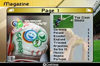 Скріншот Symbian гри FIFA World Cup Germany 2006 sis на телефон. Ігровий процес.