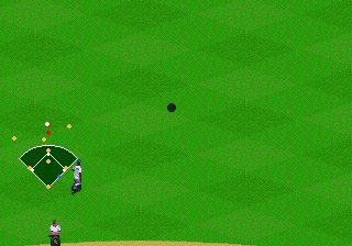 Baseball mit Frank Thomas - Symbian-Spiel Screenshots. Spielszene Frank Thomas big hurt baseball.