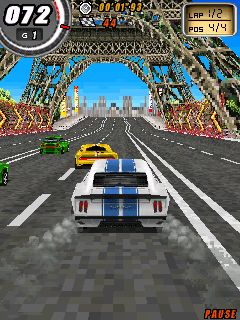 Скріншот Symbian гри Global Race: Raging Thunder sis на телефон. Ігровий процес.