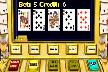 Скріншот Symbian гри Video Poker Touch sis на телефон. Ігровий процес.