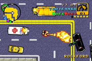 Grandioso Roubo do Carro. Avanço  - Screenshots do jogo para Symbian. Jogabilidade do Grand Theft Auto Advance.