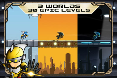 Gravitations-Typ - Symbian-Spiel Screenshots. Spielszene Gravity Guy.