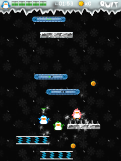 Gierige Pinguine - Symbian-Spiel Screenshots. Spielszene Greedy penguins.