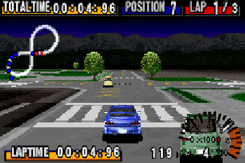 GT Advance: Meisterschaftsrennen - Symbian-Spiel Screenshots. Spielszene GT Advance: Championship Racing.