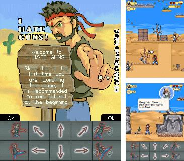 In addition to the sis game Lament island for Symbian phones, you can also download I hate guns for free.
