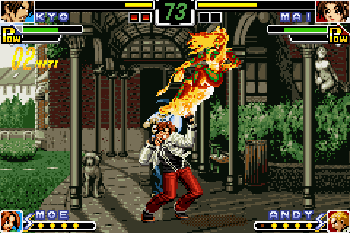 King of fighters EX: Neo blood - Symbian game screenshots. Gameplay King of fighters EX: Neo blood.