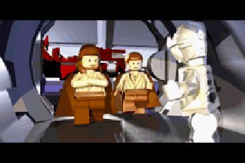 LEGO: Las guerras de las galaxias : capturas de pantalla del juego para Symbian. Jugabilidad LEGO Star Wars: The video game.