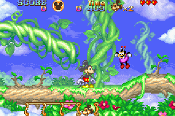 Magisches Quizz mit Mickey und Minnie - Symbian-Spiel Screenshots. Spielszene Magical quest starring Mickey and Minnie.