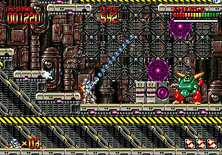 Mega Turrican - Symbian game screenshots. Gameplay Mega Turrican.