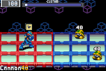 塞班版游戏截图。Megaman Battle network 3. Blue version游戏。