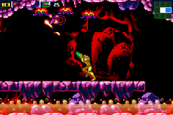 Metroid: Mission Null - Symbian-Spiel Screenshots. Spielszene Metroid Zero Mission.