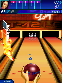 Midnight bowling 3D - Symbian game screenshots. Gameplay Midnight bowling 3D.