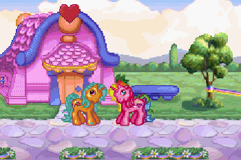 My little pony. Crystal princess: The runaway rainbow - Symbian game screenshots. Gameplay My little pony. Crystal princess: The runaway rainbow.