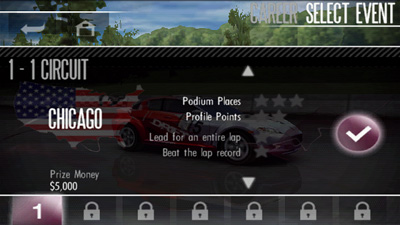 Jagd nach Geschwindigkeit: Shift HD - Symbian-Spiel Screenshots. Spielszene Need for speed: Shift HD.