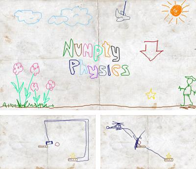 In addition to the sis game Orbit Eater for Symbian phones, you can also download Numpty physics for free.