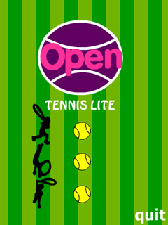 Open Tennis Lite download free Symbian game. Daily updates with the best sis games.