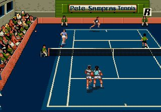 Pete Sampras: Tennis 96 - Symbian-Spiel Screenshots. Spielszene Pete Sampras: Tennis 96.