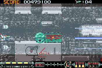 Phalanx: Superfighter A-114 - Symbian-Spiel Screenshots. Spielszene Phalanx: The enforce fighter A-144.
