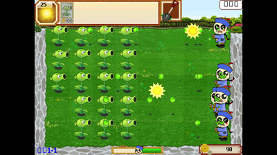 Скріншот Symbian гри Plants vs. Zombies sis на телефон. Ігровий процес.