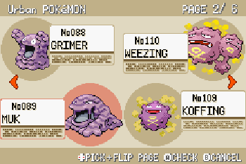 Pokemon: Feuerrote Edition - Symbian-Spiel Screenshots. Spielszene Pokemon: Fire Red Version.