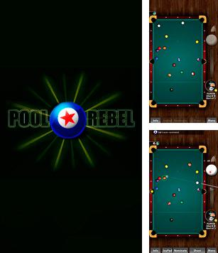 In addition to the sis game Brett Hull hockey 95 for Symbian phones, you can also download Pool rebel for free.
