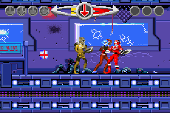 Power Rangers: Kraft der Zeit - Symbian-Spiel Screenshots. Spielszene Power Rangers: Time Force.