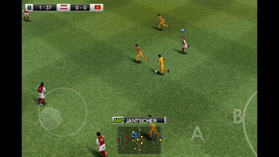 Pro Evolution Soccer 2011 - Écrans du jeu Symbian. Gameplay Pro Evolution Soccer 2011.