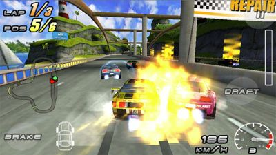 Raging Thunder 2 - Symbian game screenshots. Gameplay Raging Thunder 2.