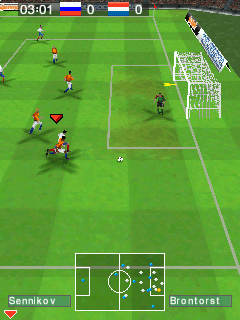 Futebol Real 2008 Torneio Europeu  - Screenshots do jogo para Symbian. Jogabilidade do Real Football 2008 European Tournament.
